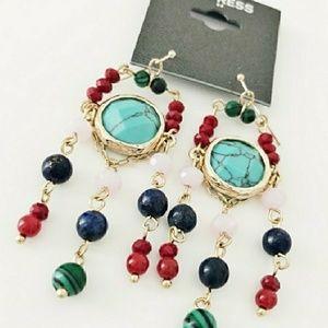 NWT semi-precious drop earrings